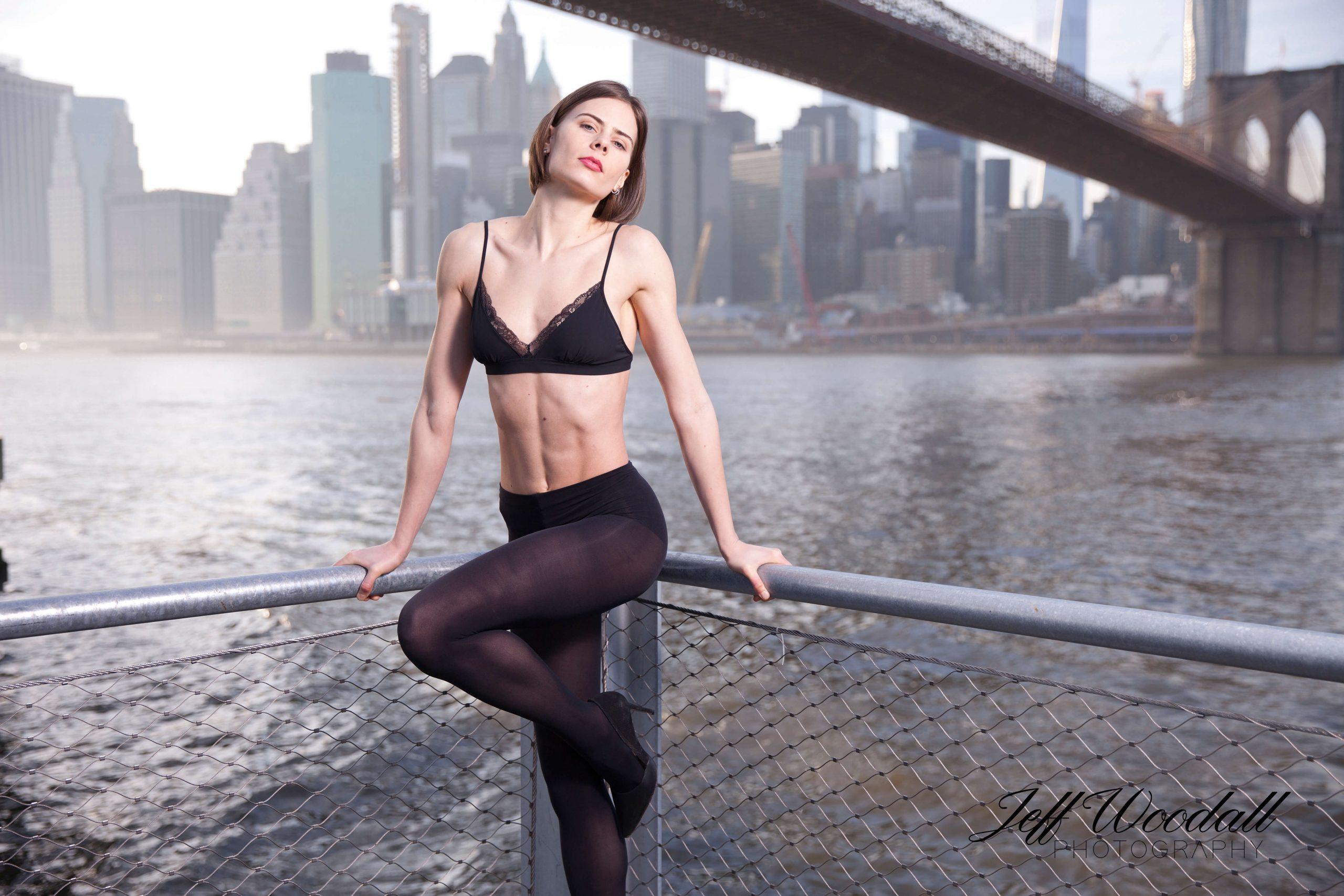 Beautiful model portrait shot in Brooklyn