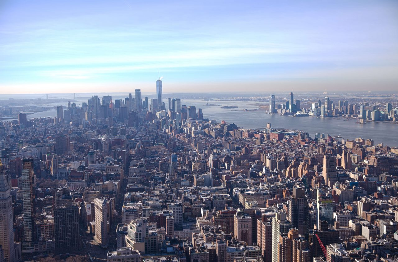 View of New York from Empire State Building