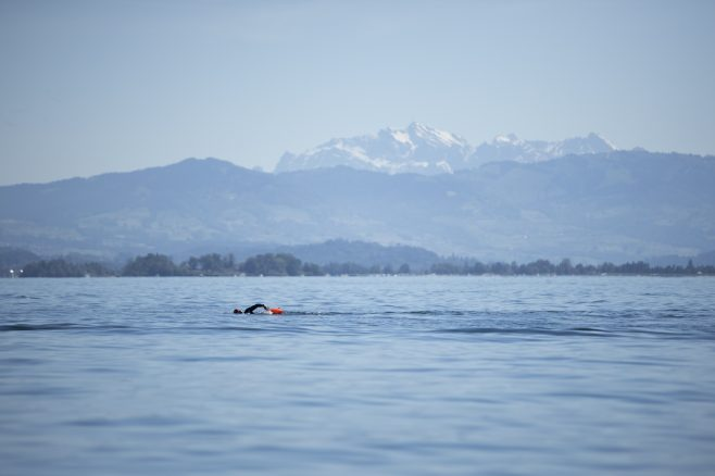 swimmer at Lake Zurich